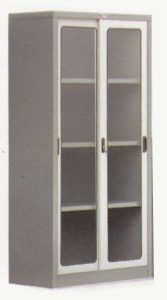 Lemari Arsip Sliding Glass Door 3 Shelfs Alba