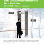 Walk through Metal Detector D3180S with Fever Detection